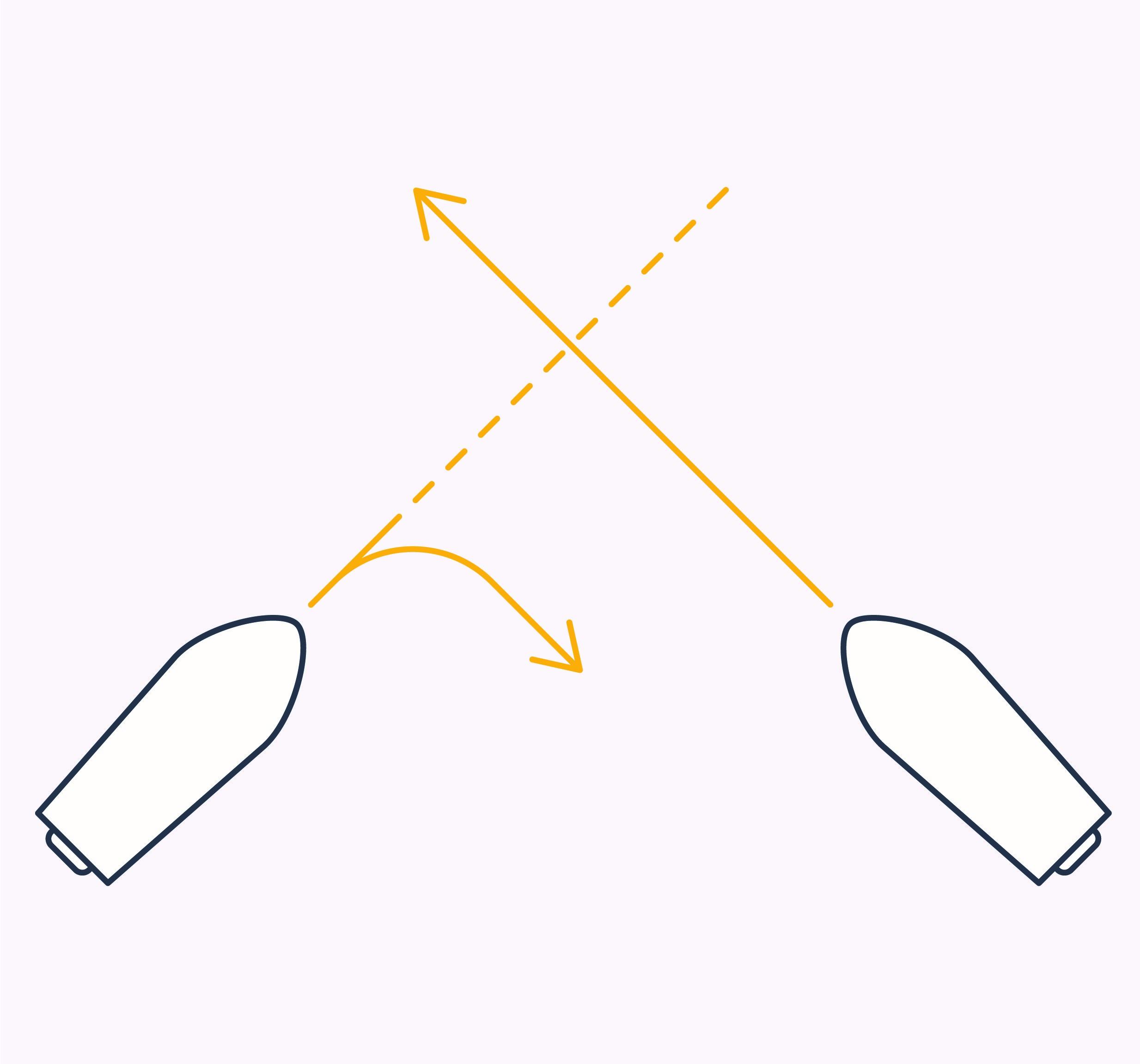 Kulkusuuntien risteytyessä vasemmalta tuleva väistää